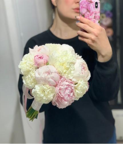 «Букет Невесты №13» — 15 пионов