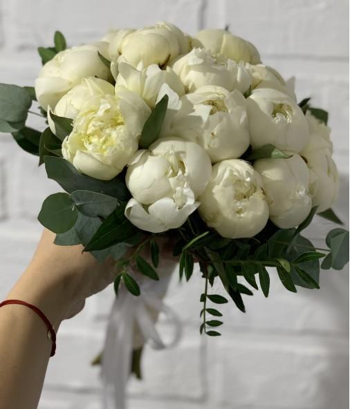 «Букет Невесты №3» — 19 пионов