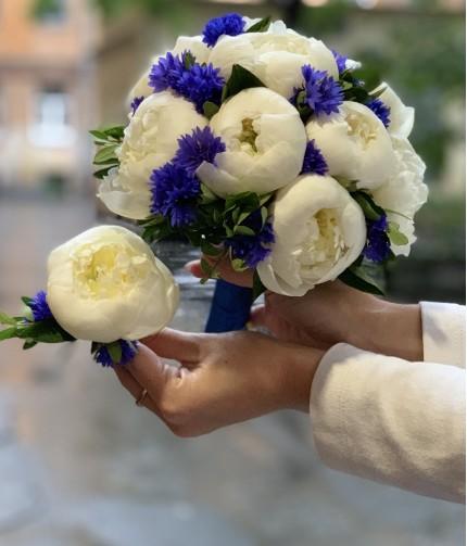 «Букет Невесты №2» — 9 пионов