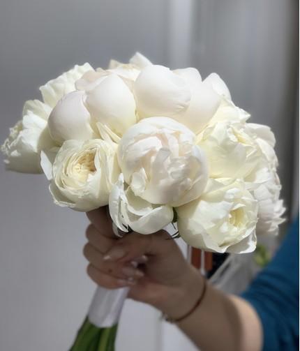«Букет Невесты №5» — 9 пионов